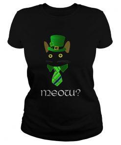 Black Business Cat Kitten St Patricks Leprechaun  Classic Ladies