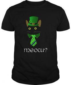Black Business Cat Kitten St Patricks Leprechaun  Unisex