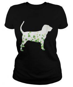 Bloodhound St Patricks Day Shamrock Dog  Classic Ladies