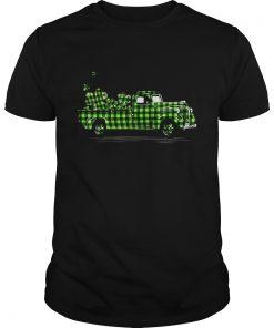 Buffalo Plaid Shamrock Pickup Truck Cute St Patricks Day  Unisex
