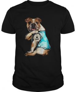 Bulldog Tattoo I Love Mom  Unisex
