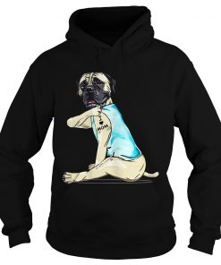 Bullmastiff Tattoo I Love Mom  Hoodie
