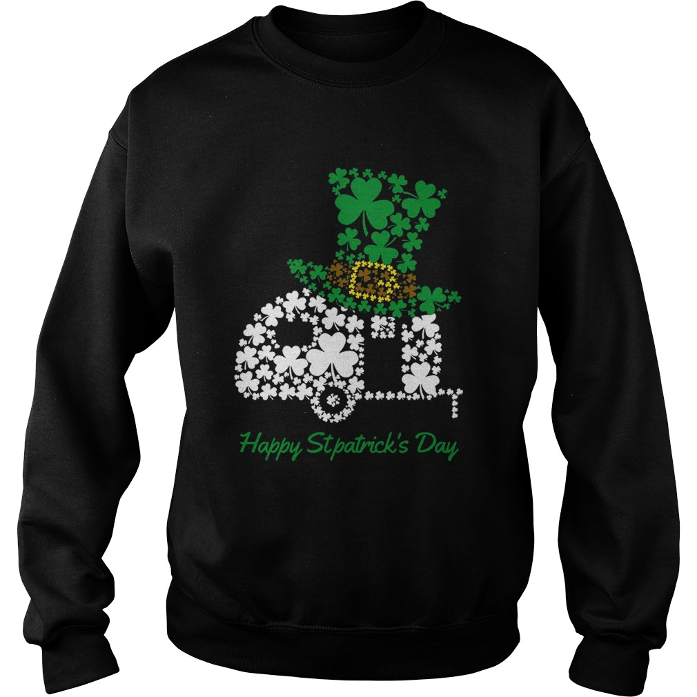 Camping Shamrock Irish St Patricks Day Sweatshirt