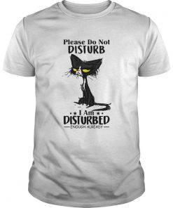 Cat Please do not disturb I am disturbed enough already  Unisex