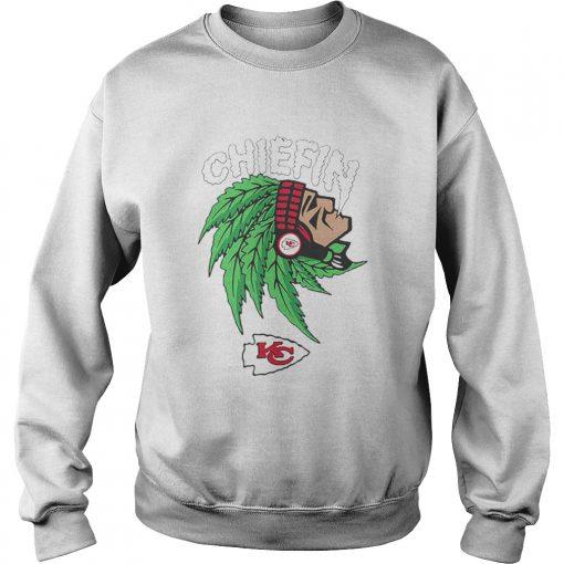 Chiefin weed smoking Indian Kansas City Chiefs Champions  Sweatshirt