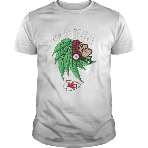 Chiefin weed smoking Indian Kansas City Chiefs Champions  Unisex