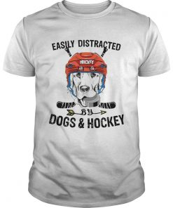 Easily Distracted By Dogs And Hockey  Unisex