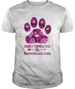 Easily Distracted By Flamingos And Dogs  Unisex