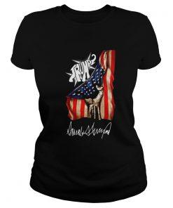 Elephant Trump American Flag Signature  Classic Ladies
