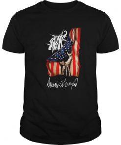 Elephant Trump American Flag Signature  Unisex