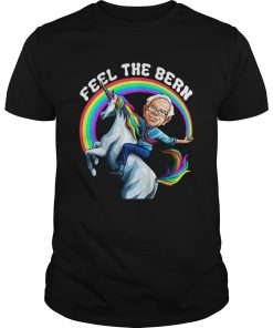Feel the Bernie Shirt Riding Unicorn  Unisex
