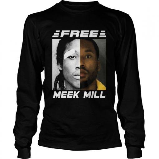 Free Meek Mill Face  LongSleeve