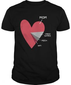 HEART MOM VIDEO GAMES PIZZA WIFI  Unisex