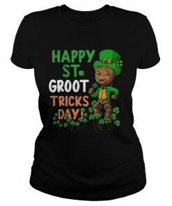 Happy St Patricks Day Groot Tricks Day  Classic Ladies