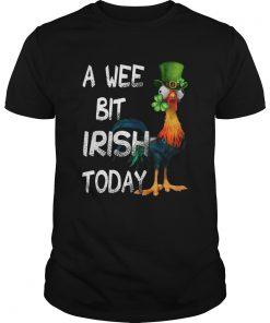 Hie Hie St Patricks Day A Wee Bit Irish Today  Unisex