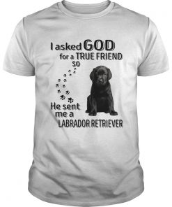 I Asked God For A True Friend So He Sent Me A Labrador Retriever  Unisex