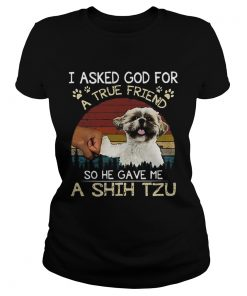I ask God for a true friend so he gave me a Shih Tzu vintage  Classic Ladies