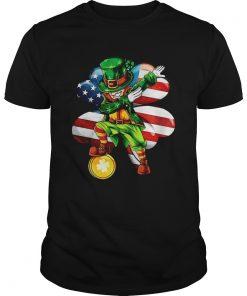 Irish Dabbing St Patricks Day American flag  Unisex