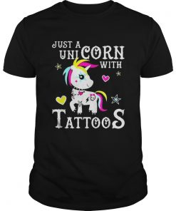 Just a Unicorn with tattoos  Unisex