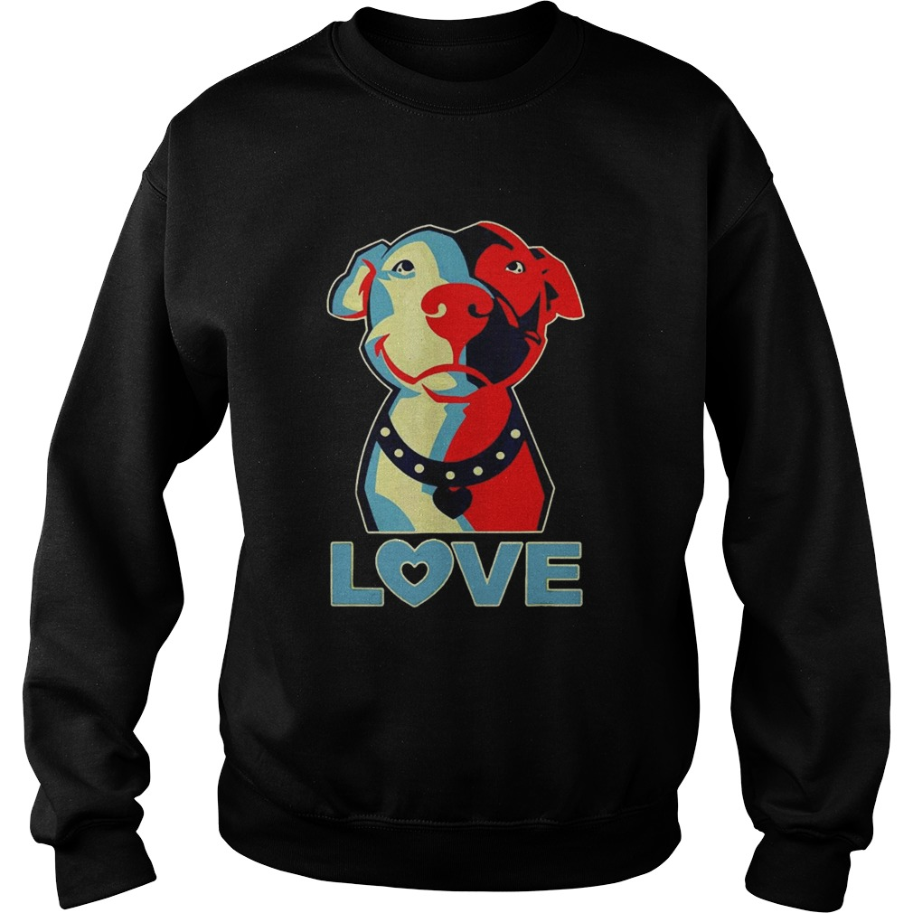 Love Pitbull sunset Sweatshirt