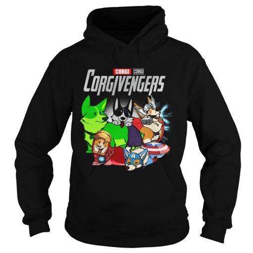 Marvel Avengers Corgi Corgivengers  Hoodie