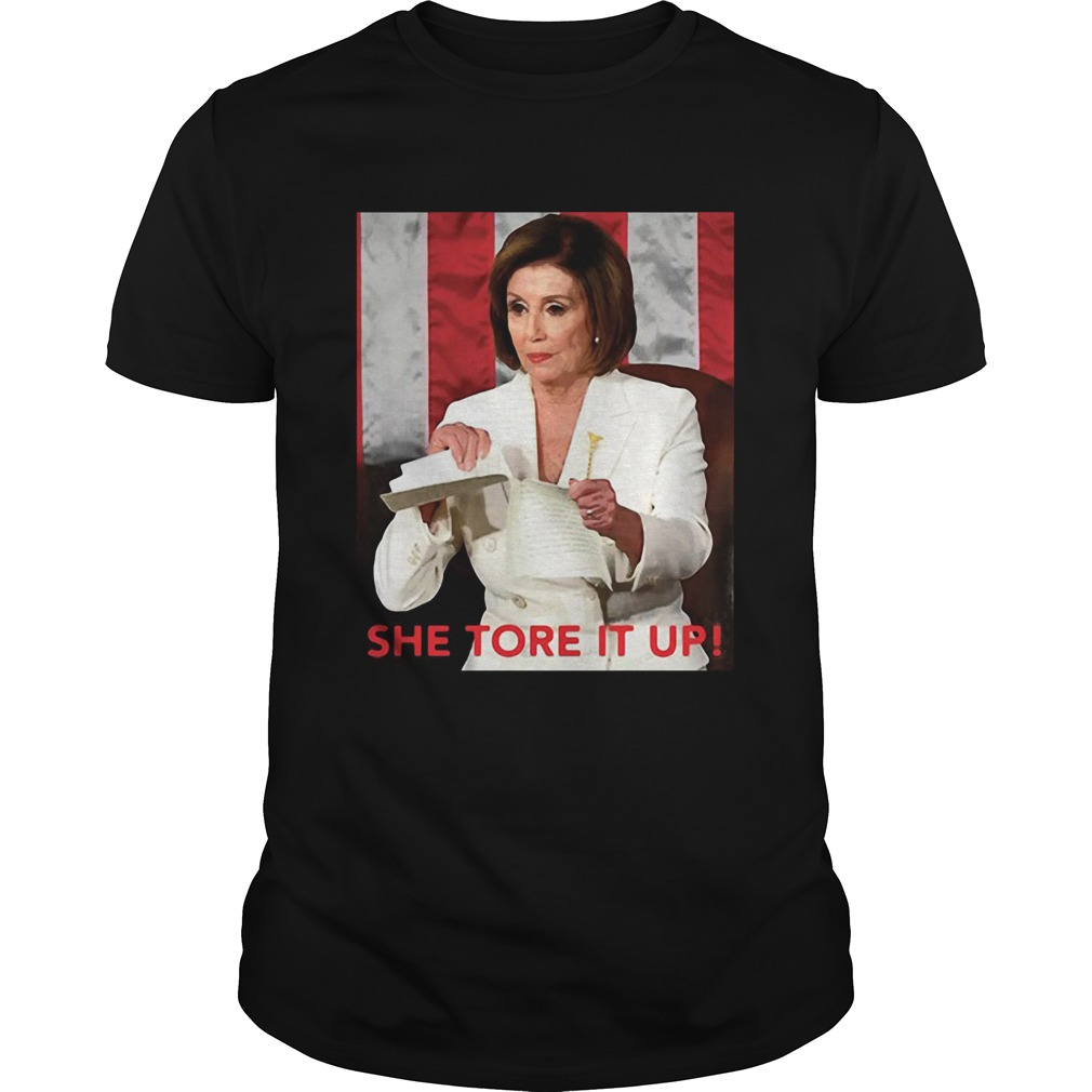 Meme She Tore It Up Trump Speech Nancy Pelosi Unisex