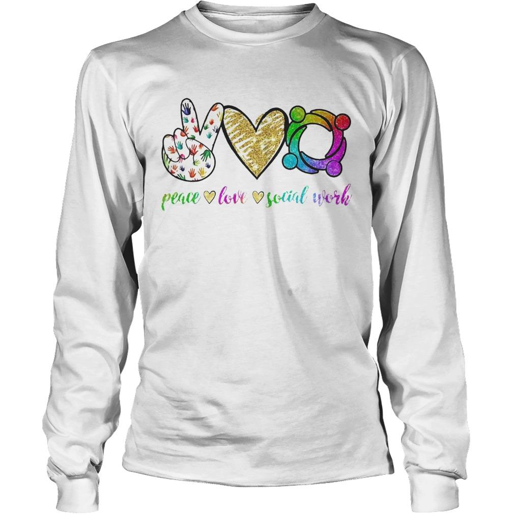 Peace love social word LongSleeve