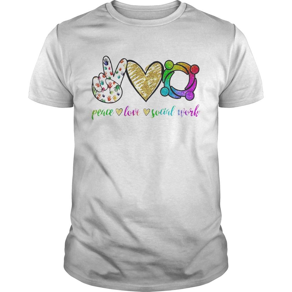 Peace love social word Unisex