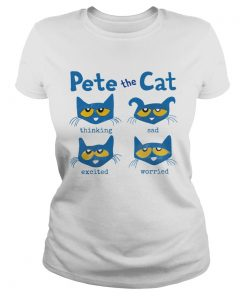 Pete The Cat Thinking Sad Excited Worried  Classic Ladies