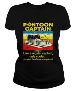 Pontoon Captain Like A Regular Captain Only Cooler  Classic Ladies