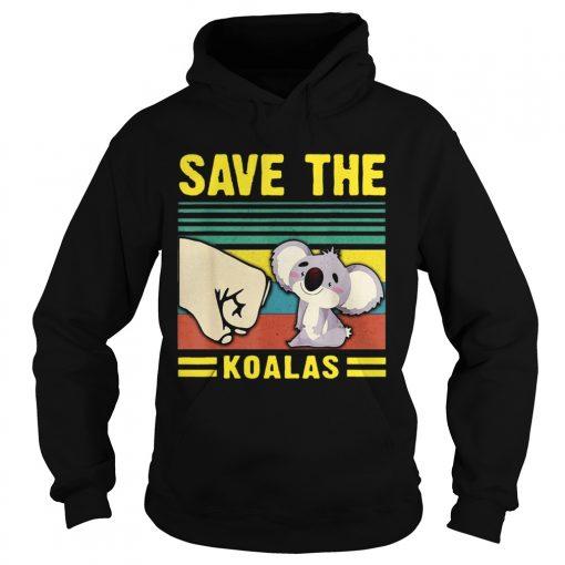 Save the Koalas VintageSave the Earth  Hoodie