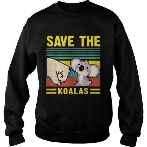 Save the Koalas VintageSave the Earth  Sweatshirt