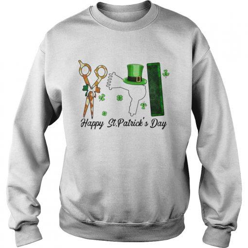 Scissors Hair dryer Comb Happy St Patricks Day  Sweatshirt