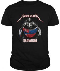 Skeleton Metallica Slovakia Flag  Unisex