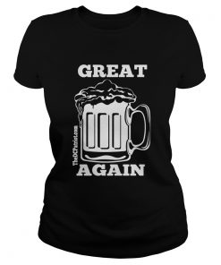 St Patricks Day Beer Great Again  Classic Ladies