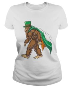 St Patricks Day Bigfoot  Classic Ladies