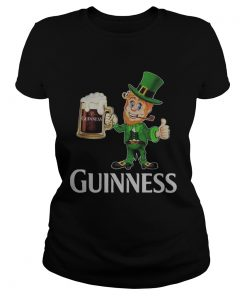 St Patricks day Leprechaun drinking Guinness  Classic Ladies