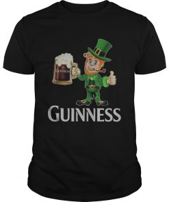 St Patricks day Leprechaun drinking Guinness  Unisex