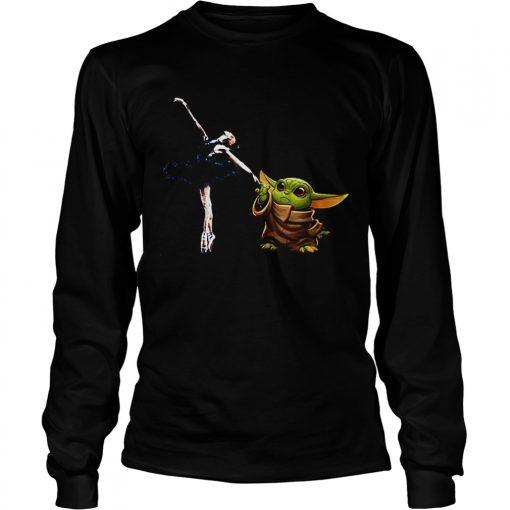 Star Wars Baby Yoda Holding Hand Bale Dancer  LongSleeve