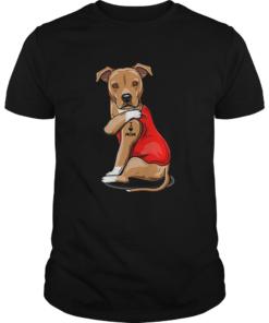 Strong dog Staffordshire Bull Terrier tattoos i love mom  Unisex