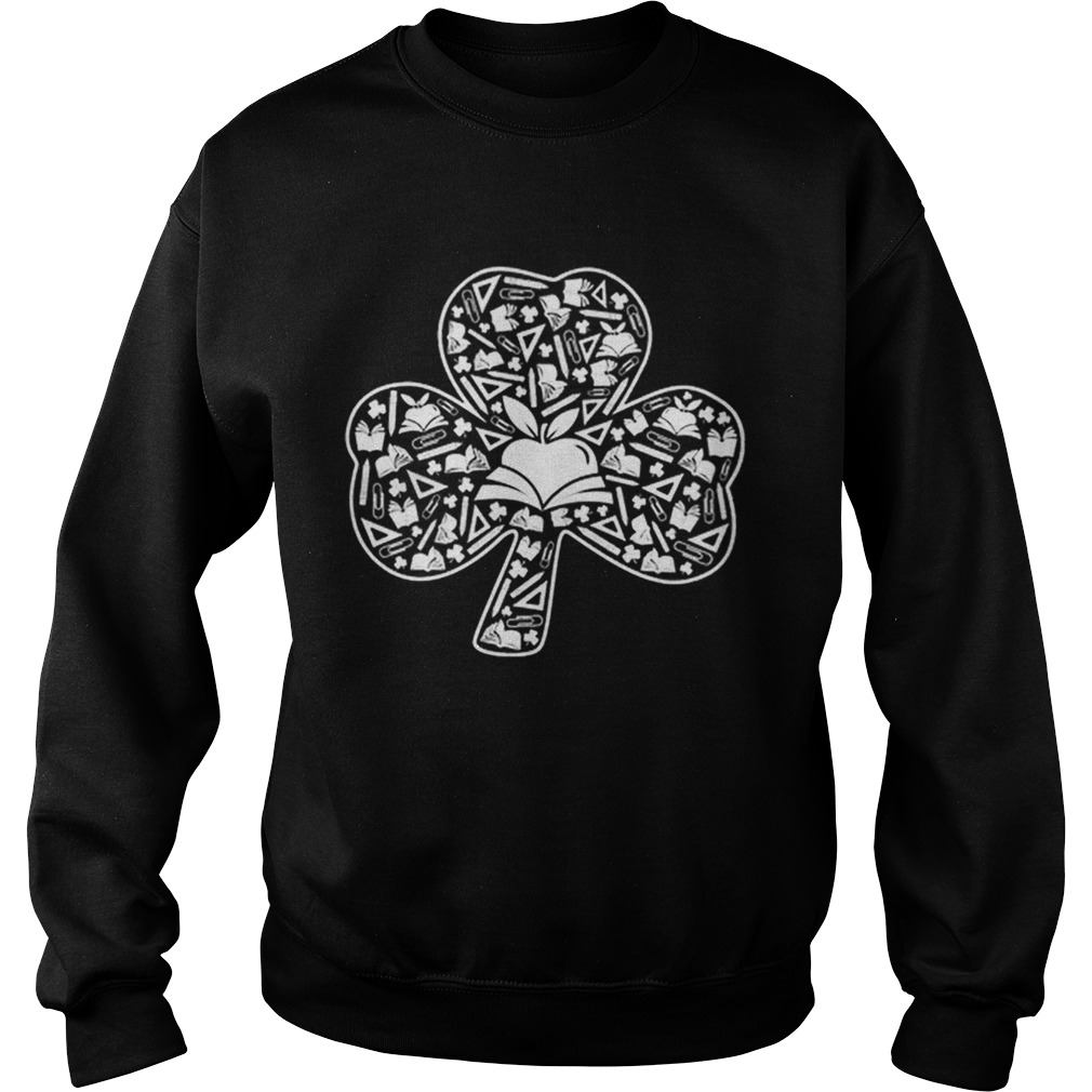 Teacher Shamrock Symbol St Patricks Day Sweatshirt