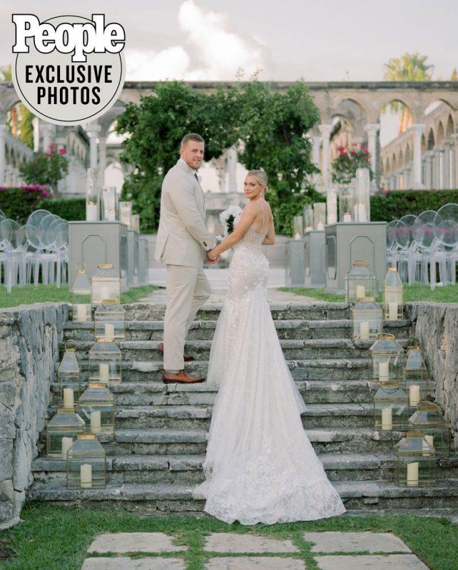 Texans defensive end J.J. Watt gets married to soccer star Kealia Ohai in Bahamas wedding