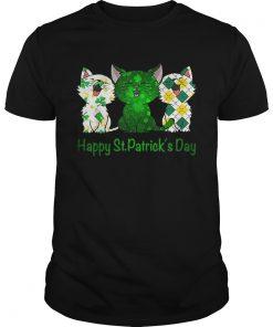 Three Cats Pet Cat lovers Happy St Patricks day  Unisex