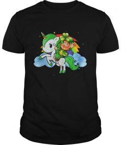 Unicorn Leprechaun St Patricks Day Funny for Kids  Unisex