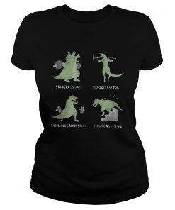 Weight Lifting Dinosaur Tricerasquats Velocitraptor Tyrannsaurusflex Glutesareus  Classic Ladies