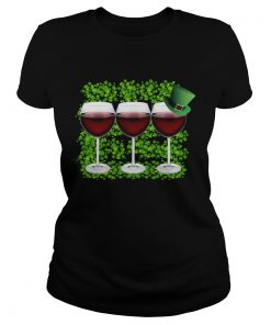 Wine Glass Happy St Patricks Day  Classic Ladies
