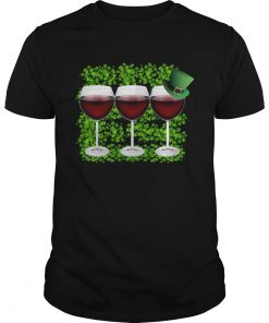 Wine Glass Happy St Patricks Day  Unisex