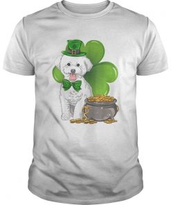 bichon frise St Patricks Day Leprechaun Dog Lover  Unisex