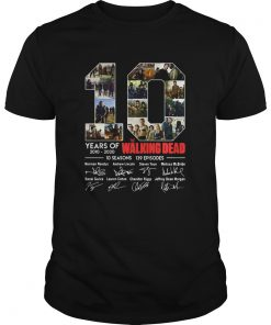 10 Years Of The Walking Dead Signature  Unisex