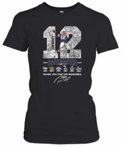 12 Tom Brady Patriots 2000 2020 Thank You For The Memories Signature T-Shirt Classic Women's T-shirt